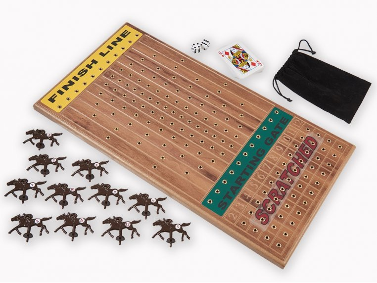Wooden Tabletop Horseracing Game by Across The Board - 3