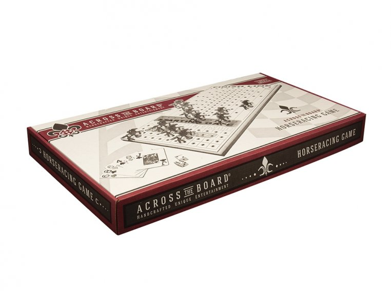 Wooden Tabletop Horseracing Game by Across The Board - 4