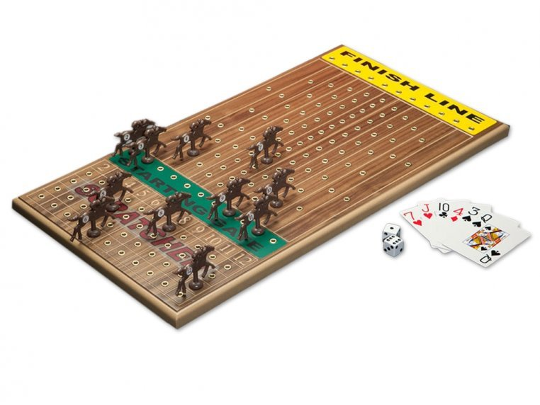 Wooden Tabletop Horseracing Game by Across The Board - 5
