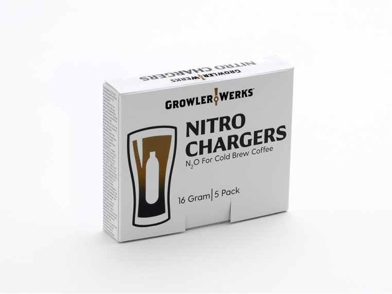 Nitro Cold Brew Chargers 5-Pack by GrowlerWerks - 3