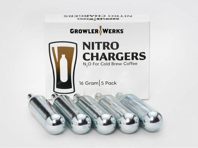 Nitro Cold Brew Chargers 5-Pack by GrowlerWerks - 1