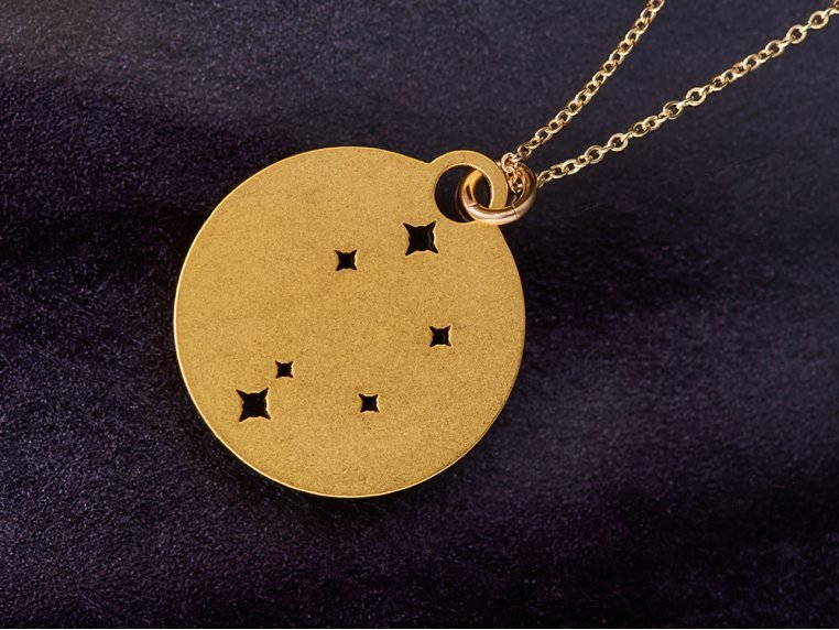 Zodiac Constellation Necklace by Outdoor Metalworks - 1