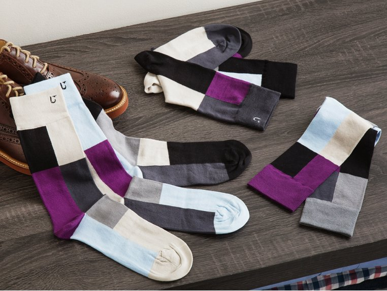Set Of 7 Fun Socks For Men by SOLOSOCKS™ - 1