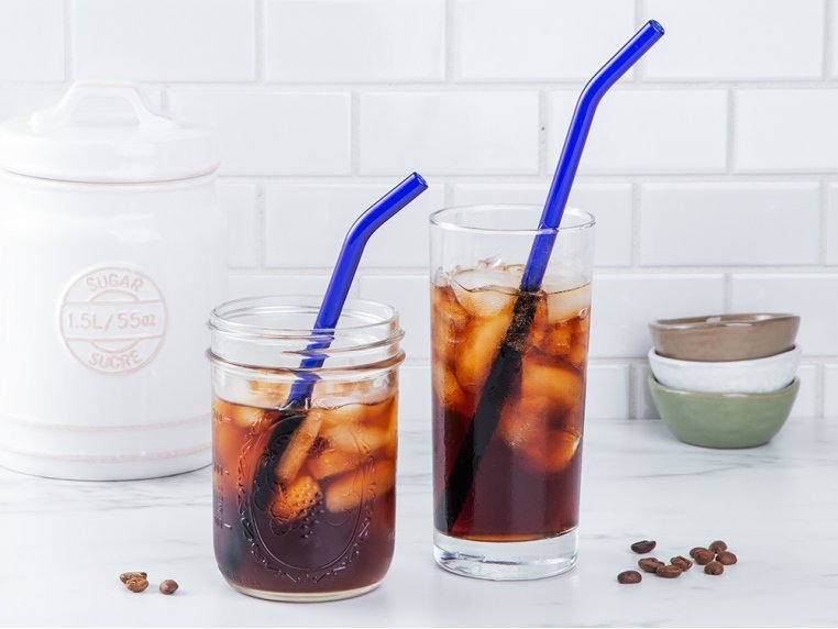 Bent Single Glass Straw by Strawesome - 2