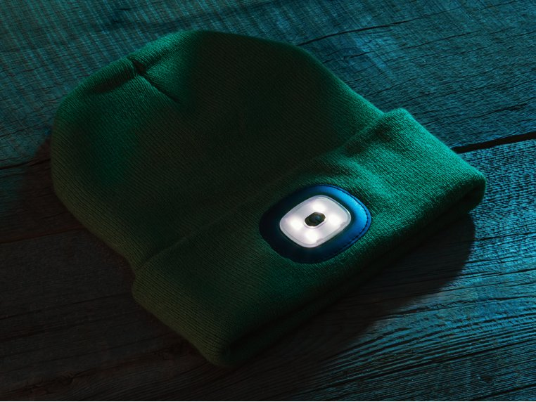 Women's Rechargeable LED Beanie Hat by Night Scout - 2
