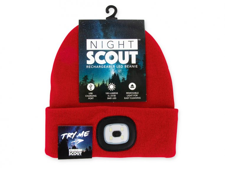 Women's Rechargeable LED Beanie Hat by Night Scout - 4