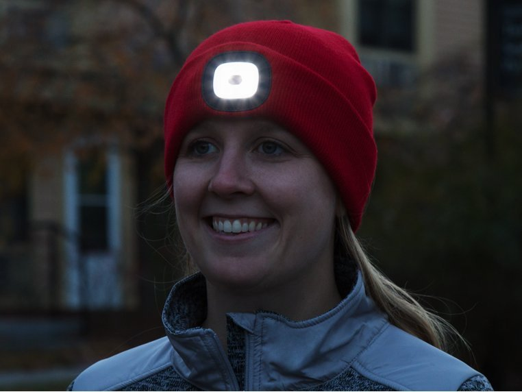 Women's Rechargeable LED Beanie Hat by Night Scout - 1