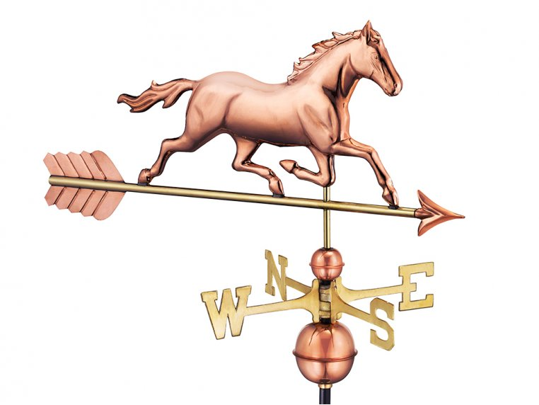 100% Copper Large Rooftop Weathervane by Good Directions - 4