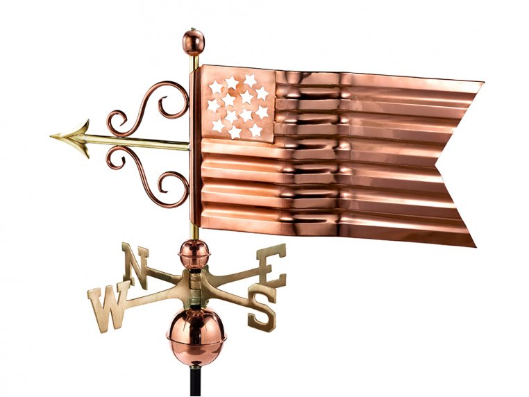 100% Copper Large Rooftop Weathervane by Good Directions - 5