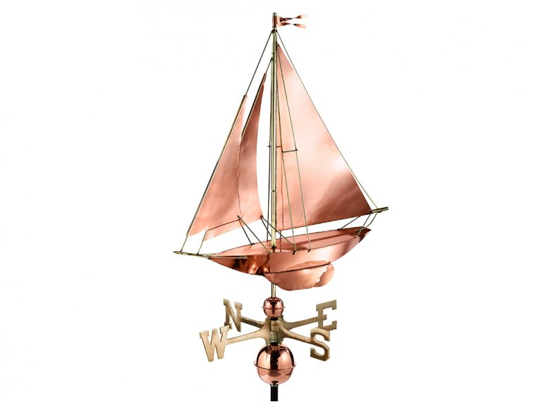 100% Copper Large Rooftop Weathervane by Good Directions - 6
