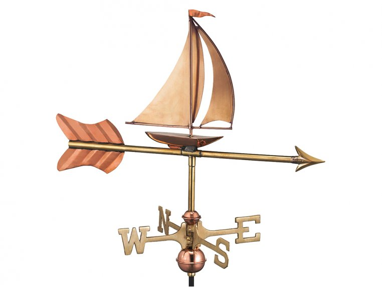 100% Copper Cottage Size Weathervane by Good Directions - 7