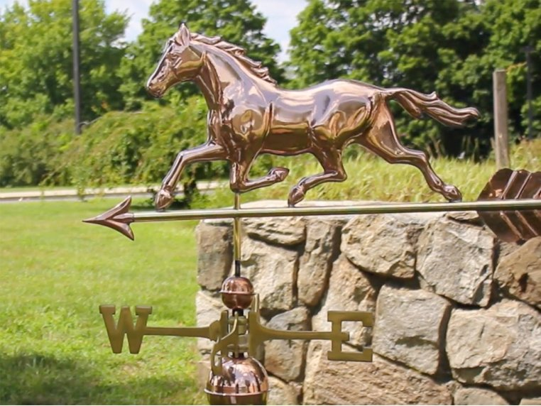 100% Copper Large Rooftop Weathervane by Good Directions - 2