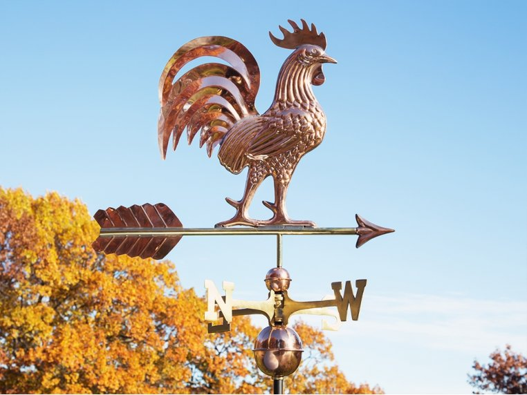 100% Copper Large Rooftop Weathervane by Good Directions - 1