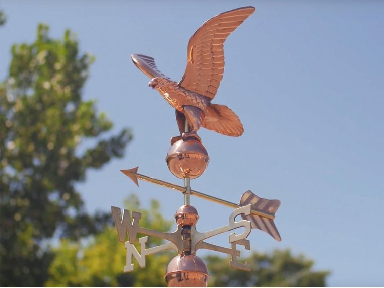 100% Copper Cottage Size Weathervane by Good Directions - 1