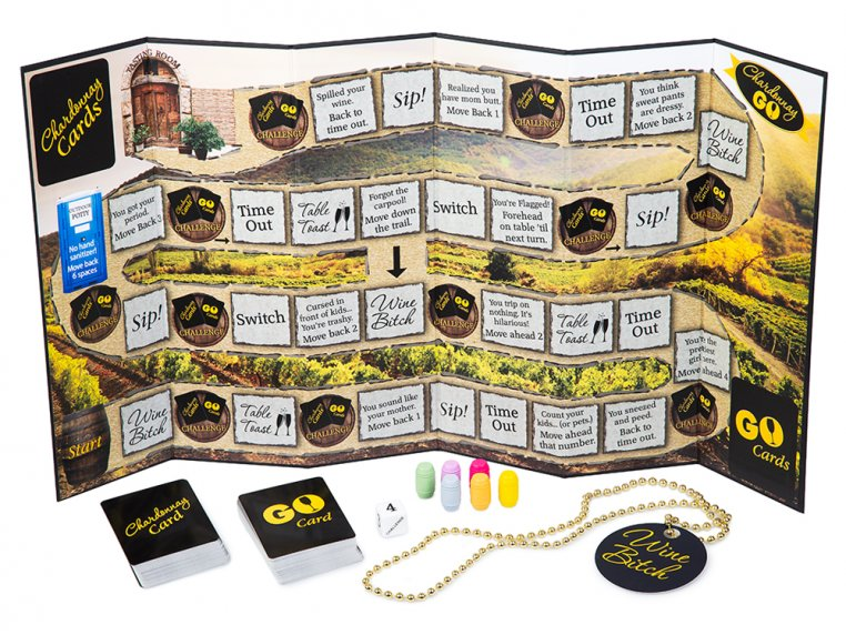 Chardonnay Go Adult Board Game by One Funny Mother - 4