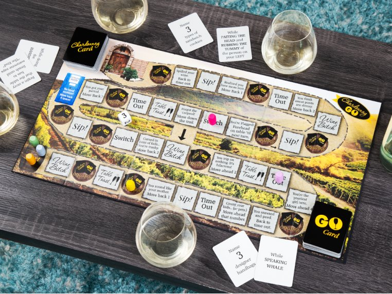 Chardonnay Go Adult Board Game by One Funny Mother - 1