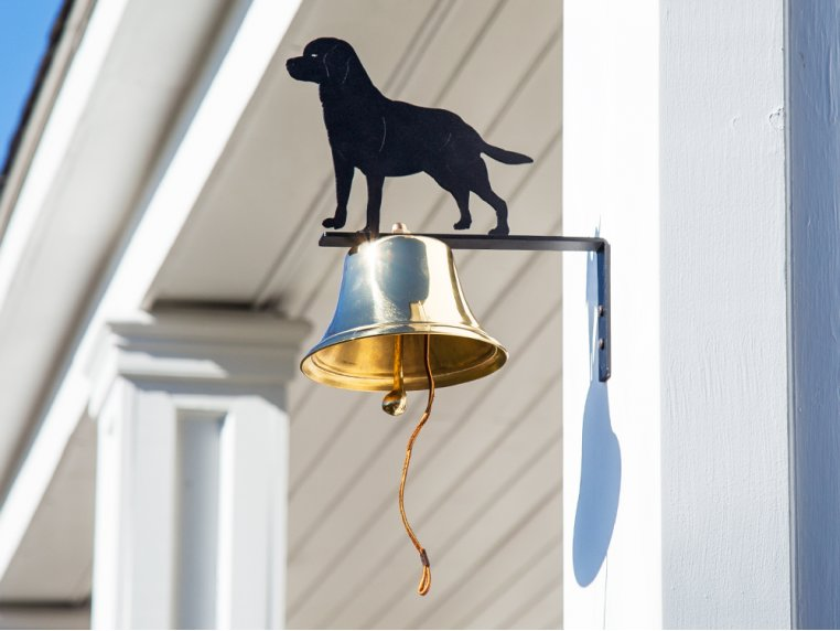 Brass Wall Bell with Silhouette by Bevin Bells - 1