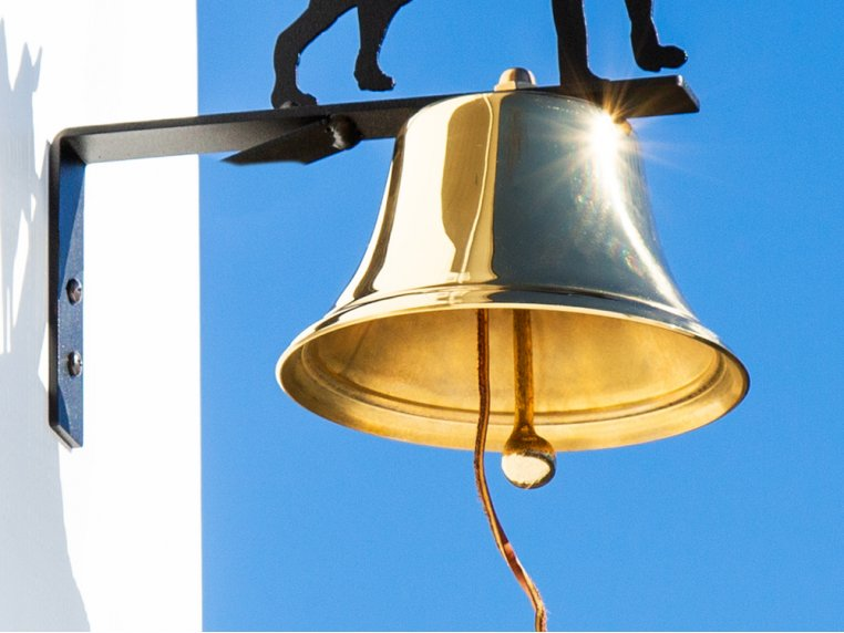 Brass Wall Bell with Silhouette by Bevin Bells - 4