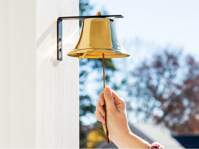Brass Wall Bell by Bevin Bells - 2