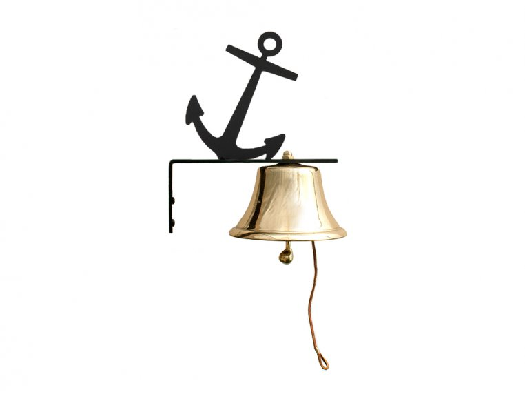 Brass Wall Bell with Silhouette by Bevin Bells - 6