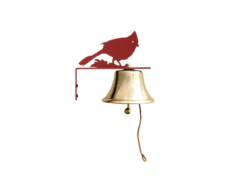 Brass Wall Bell with Silhouette by Bevin Bells - 7