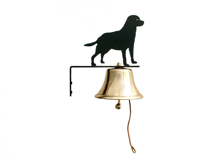 Brass Wall Bell with Silhouette by Bevin Bells - 8