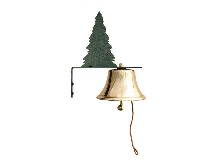 Brass Wall Bell with Silhouette by Bevin Bells - 9