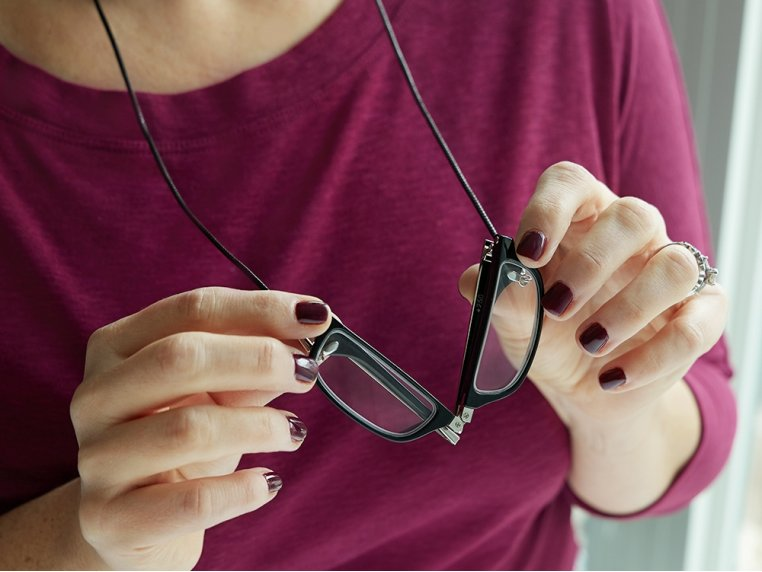 Folding Rectangle Reading Glasses by Neckglasses - 3