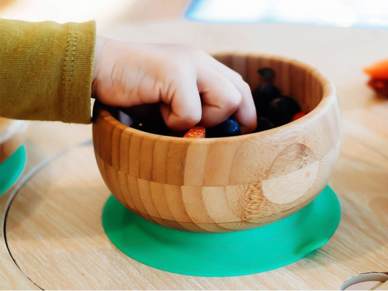 Bamboo Suction Baby Bowl & Spoon by Avanchy - 2