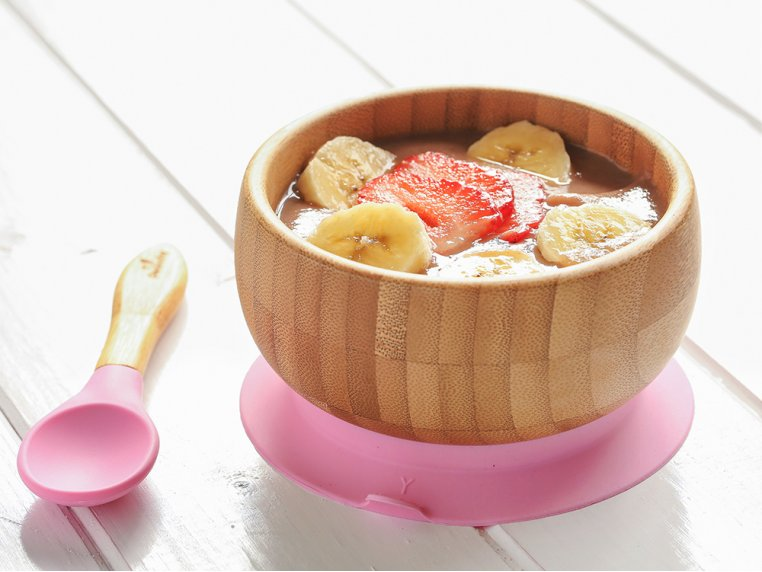 Bamboo Suction Baby Bowl & Spoon by Avanchy - 1