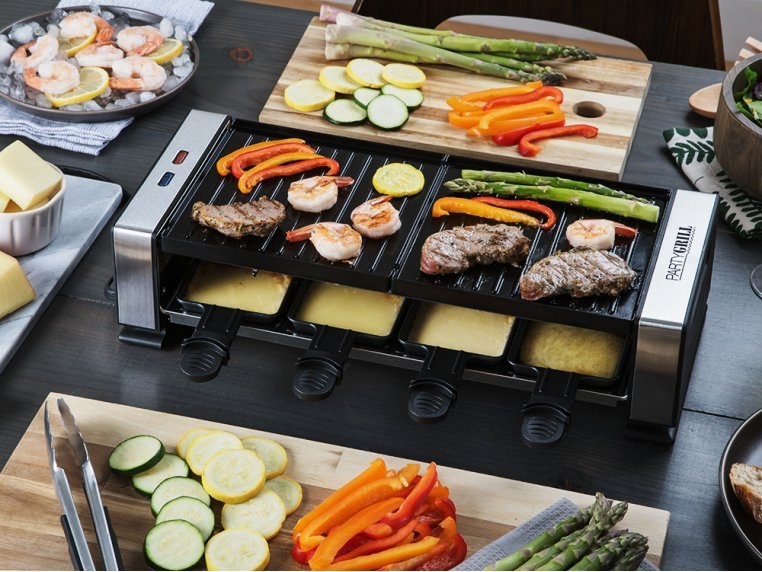 Indoor Tabletop Raclette Grill by Party Grill - 6