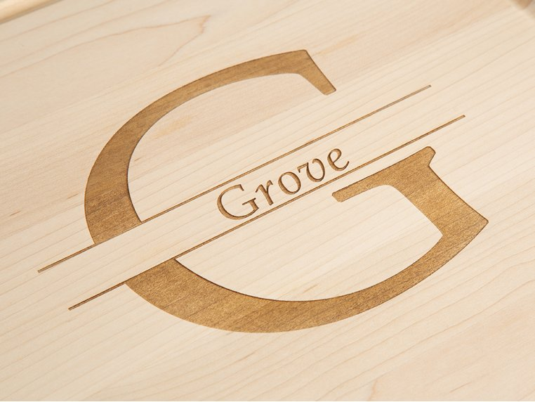 Personalized Square Serving Tray by BigWood Boards - 2