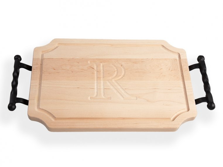 Personalized Scalloped Serving Tray by BigWood Boards - 4