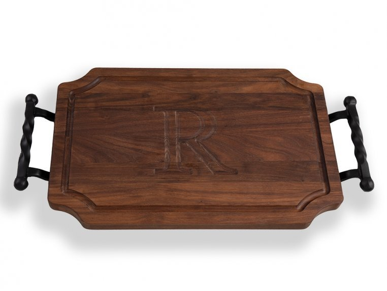 Personalized Scalloped Serving Tray by BigWood Boards - 5