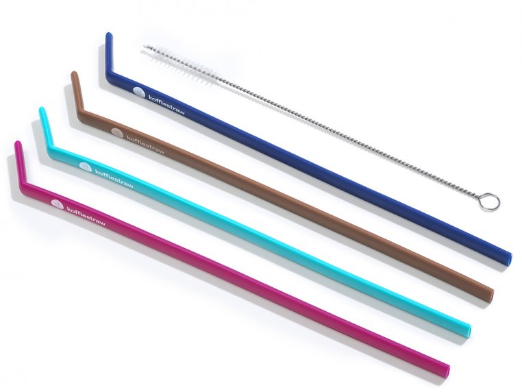 Reusable Silicone Straws 4-pack by KoffieStraw - 6