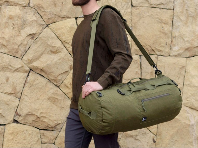 Adjustable Duffle Bag - Military Green by PIORAMA - 1