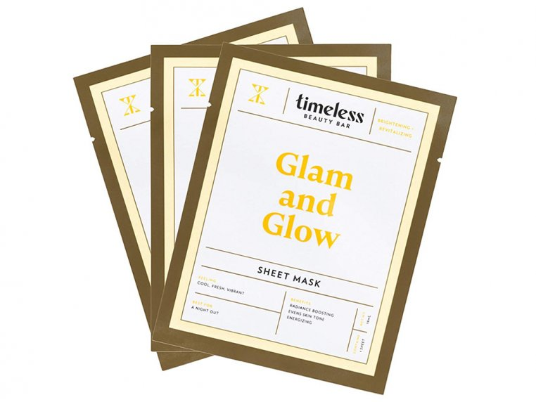 Travel Face Masks - 3 Pack - Glam & Glow by Timeless Beauty Bar - 1