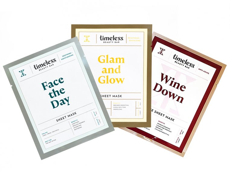 Travel Face Masks - 3 Pack by Timeless Beauty Bar - 12