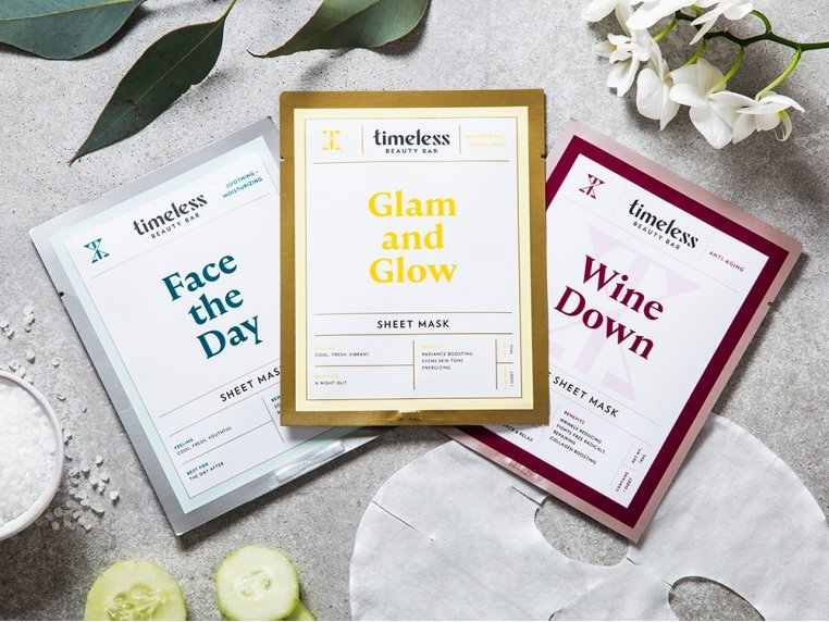 Travel Face Masks - 3 Pack by Timeless Beauty Bar - 8