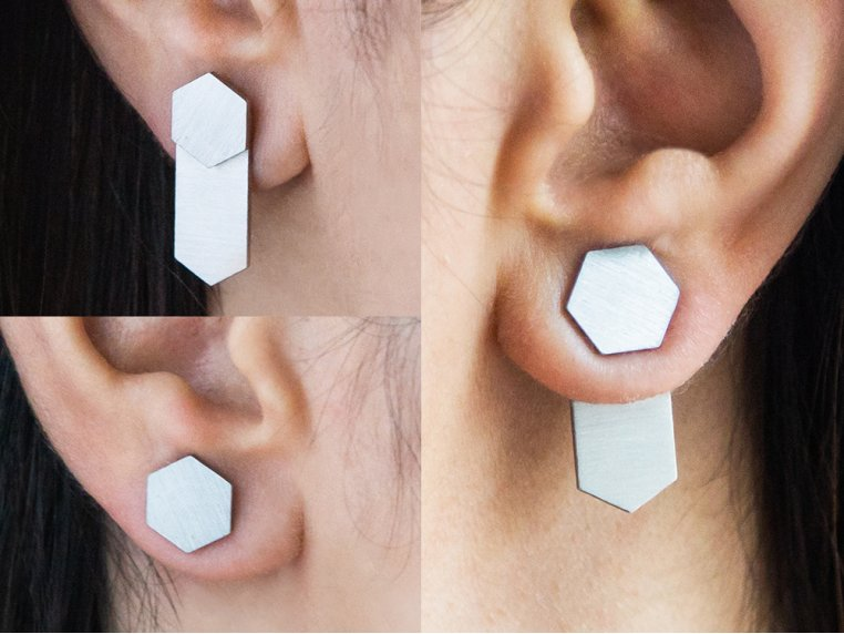 The Trifecta Convertible Earrings by Days of August - 3