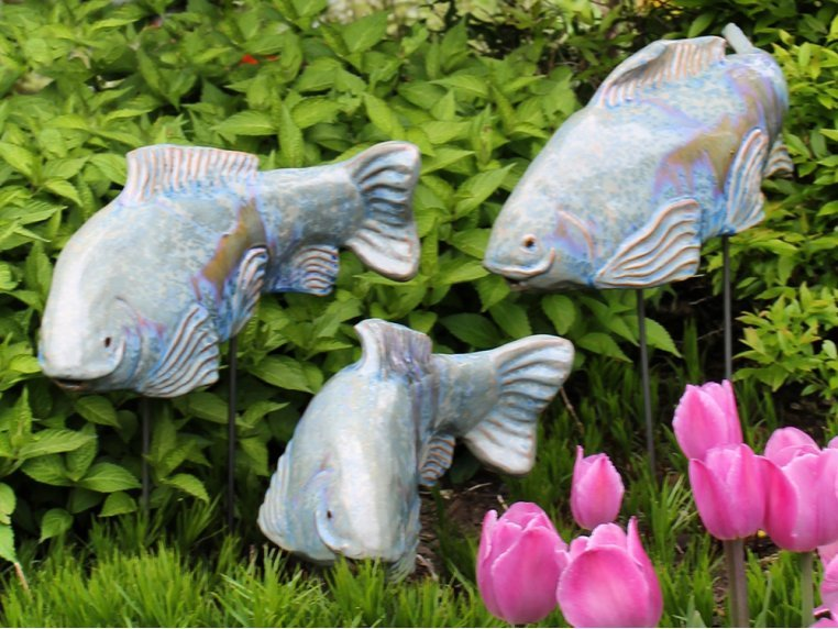 Large Garden Koi - Set of 3 by Fish In The Garden - 1