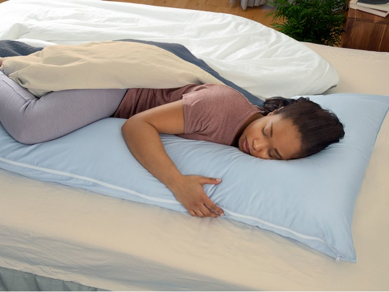 L-Shaped Body Pillow & 2 Cases by The snuggL Company - 1