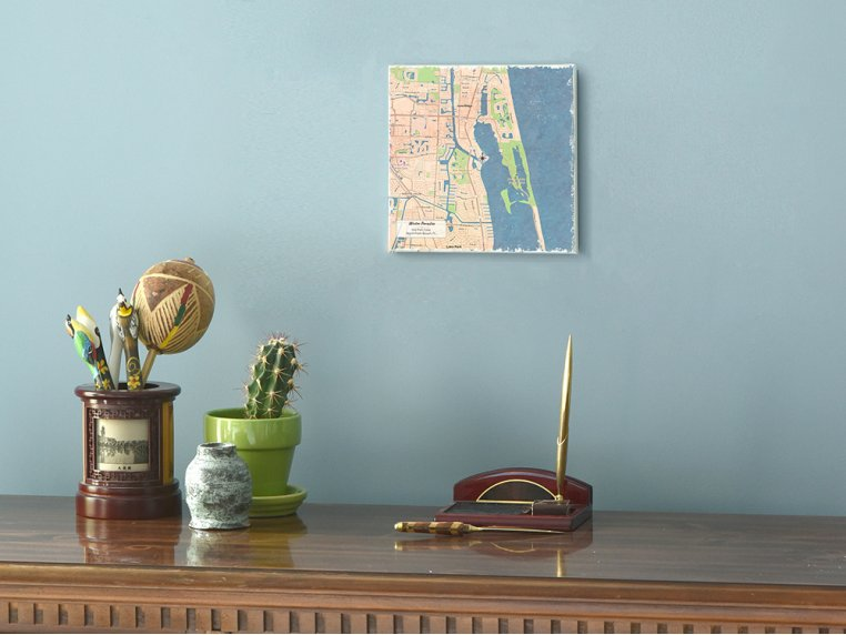 Custom Map Canvas Wall Art by ScreenCraft Gifts - 1