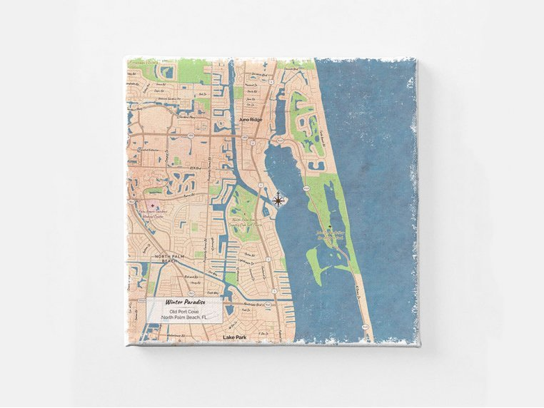 Custom Map Canvas Wall Art by ScreenCraft Gifts - 2