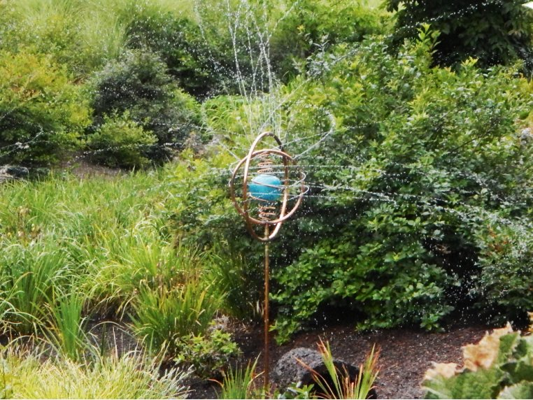 Spinning Copper Sprinkler by Hoppy's Garden Art - 2