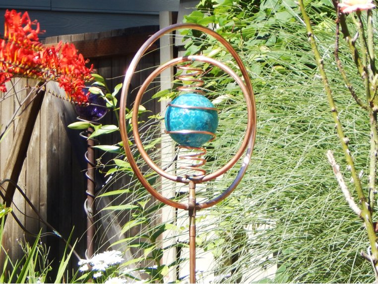 Spinning Copper Sprinkler by Hoppy's Garden Art - 3