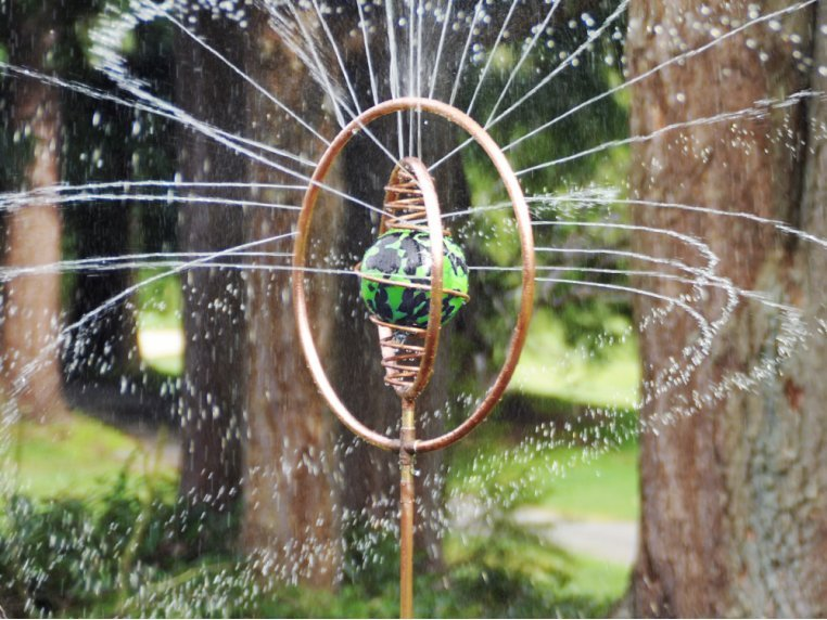 Spinning Copper Sprinkler by Hoppy's Garden Art - 1