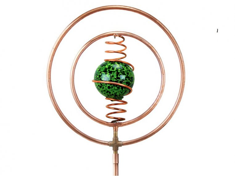 Spinning Copper Sprinkler by Hoppy's Garden Art - 8
