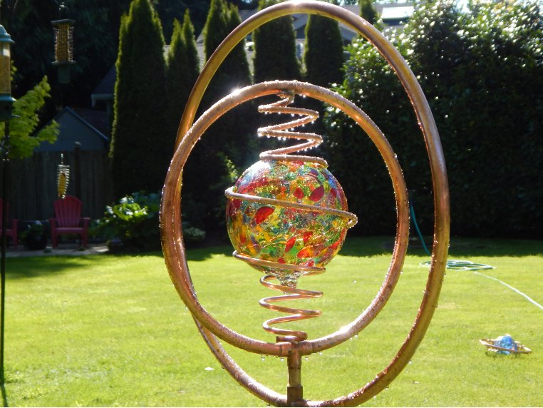 Spinning Copper Sprinkler by Hoppy's Garden Art - 4