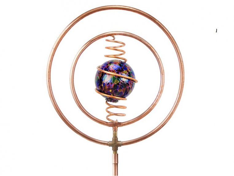 Spinning Copper Sprinkler by Hoppy's Garden Art - 10